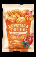 Снеки Жайвір Хрустата Потата фігурні томат-базилік 50г