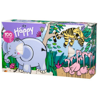 Хустинки паперові універсальні Bella Happy, 100 шт.