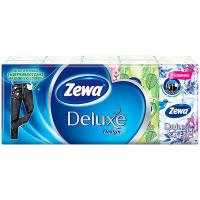 Хустки Zewa Deluxe носові паперові з тисненням 10шт