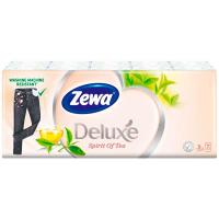 Хустинки носові паперові Zewa Deluxe Spirit of Tea, 10 пачок