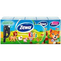 Хустки Zewa Kids носові паперові з тисненням 10шт
