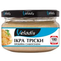Ікра тріски Veladis пробійна слабосолена 180г