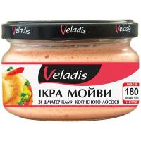 Ікра Veladis мойви в соусі зі шматочками лосося 180г