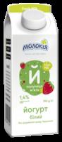 Йогурт Молокія 1,4% полуниця-м`ята елопак 700г