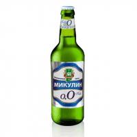 Пиво Микулин безалкогольне світле живе непастеризоване 0% б/а 0,5л с/б