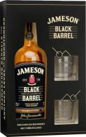 Віскі Jameson Black Barrel 40% 0,7л+2 склянки x2