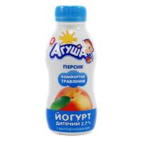 Йогурт Агуша питний Персик 2,7% 200г х24