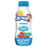 Йогурт Агуша питний Малина 2,7% 200г