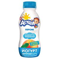 Йогурт Агуша питний Персик 2,7% 200г