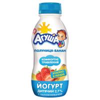 Йогурт Агуша питний полуниця-банан 2,7% 200г