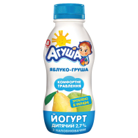 Йогурт Агуша питний Яблуко-груша 2,7% 200г