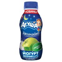 Йогурт Агуша Засинайко з наповнювачем Яблуко-меліса 2,7% 200г