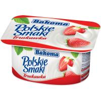 Йогурт Bakoma Польські смаки Полуниця 1,3% 120г