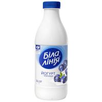 Йогурт Біла лінія Чорниця 1,5% пляшка 900г