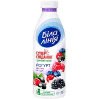 Йогурт Біла лінія з наповнювачем Лісова ягода 1,5% 820г