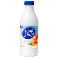 Йогурт Біла Лінія персик 1,5% п/бут 900г