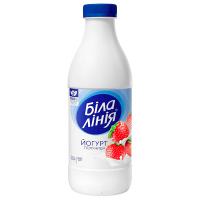 Йогурт Біла Лінія полуниця 1,5% пет/пляшка 900г