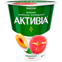 Йогурт Danone Активіа Персик 2,5% 260г