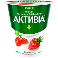 Йогурт Danone Активіа Полуниця-Суниця 2,5% 260г