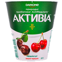 Йогурт Danone Активіа Вишня-черешня 2,5% 260г