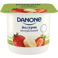 Йогурт Danone Полуниця-Банан 2% 135г