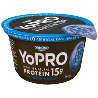 Йогурт Danone YoPRO Чорниця високопротеїновий 160г