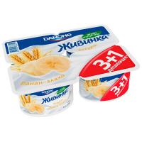 Йогурт Danone Живинка 1,5% банан-злаки 4*115г