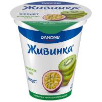 Йогурт Danone Живинка маракуйя-ківі 1,5% 280г стакан