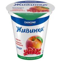 Йогурт Danone Живинка персик-червона смородина 1,5% 280г2