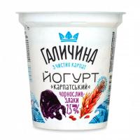 Йогурт Галичина Чорнослив-злаки 2,5% 280г