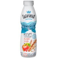 Йогурт Галичина яблуко-злаки 2,2% пет/пляшка 600г