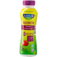 Йогурт Latter безлактозний 1,5% полуниця пет/пл 290г