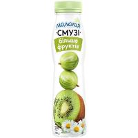 Йогурт Молокія Смузі ківі-агрус-ромащка 2% 290г