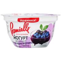 Йогурт Premialle двошаровий з наповнювачем Чорниця-чорна смородина 6,5%  140г