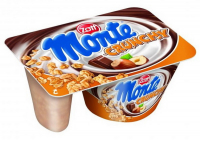 Десерт Zott Monte з шоколадом і лісними горіхами + хрустка суміш 125г