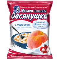 Каша Вівсянушка з персиком та вершками 45г