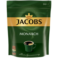 Кава Jacobs Monarch розчинна пакет 90г