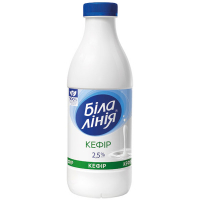Кефір Біла лінія 2,5% 900г пляшка