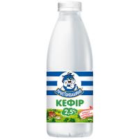 Кефір Кремез Простоквашино 2,5% пляшка 900г