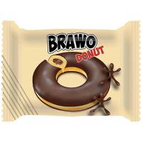 Кекс Brawo Donut з какао у какао глазурі 50г