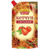 Кетчуп Щедро Лагідний д/п 250г