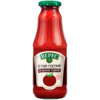 Кетчуп Верес гострий зі свіжих томатів 345г