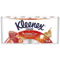 Туалетний папір Kleenex Aroma Care полуниця 3шари 6*2шт