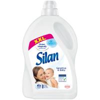 Кондиціонер-ополіскувач безфосфатний гіпоалергенний для дитячих речей Silan Sensitive, 2,775 л