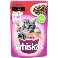 Корм Whiskas д/котів з яловичоною в соусі 100г