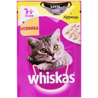 Корм Whiskas Крем-суп з куркою 85г