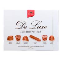 Цукерки Корона De Luxe Асорті у молочному шоколаді 146г х10