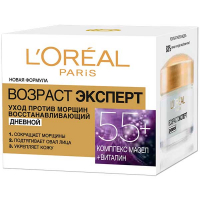 Денний крем для обличчя L'oreal Paris Вік Есперт 55+ Тріо Актив Догляд проти зморшок, 50 мл