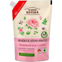 Крем-мило рідке Зелена Аптека мускатна троянда-бавовна 460мл