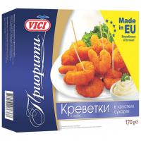 Креветки Vici Приорити із сурімі в хрустких сухарях заморожені 170г